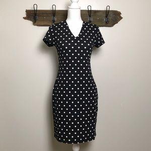 Dresses & Skirts - PinUp Polka Dot Retro Stretch Knit Dress US size 6